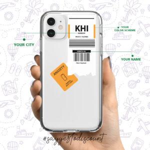 Custom Boarding Pass Mobile Cover