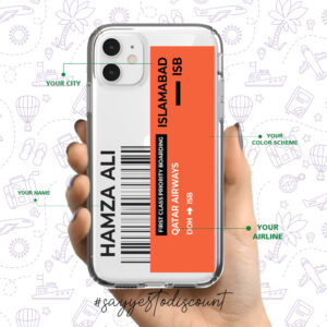 Custom Boarding Pass Ticket Mobile Cover