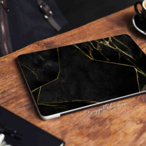 Black and Gold Marble Laptop Skin
