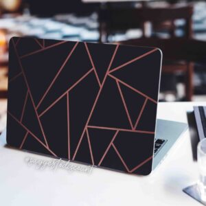 Black and Gold Lines Laptop Skin