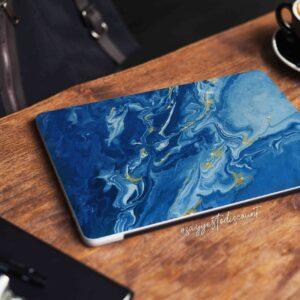 Blue Color Marble Laptop Skin