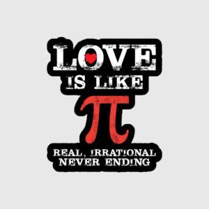 Love is Like Pie Sticker