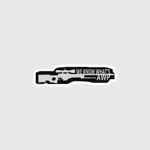 Awp gun Sticker