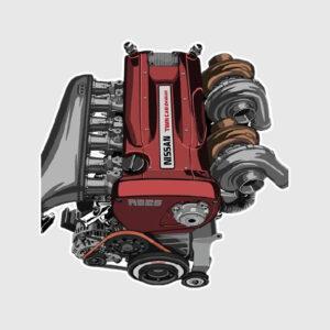 Nissan Turbo Engine Sticker