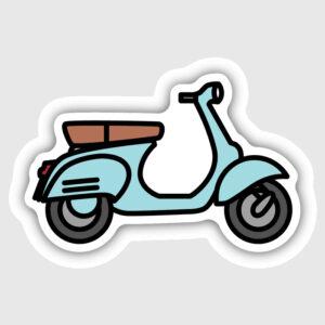 Vespa Scooter Sticker