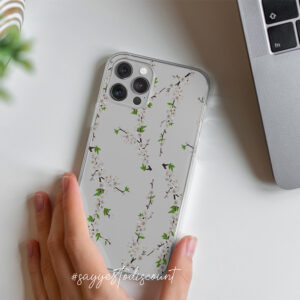 Floral Mobile Cover Design – Clear Printed