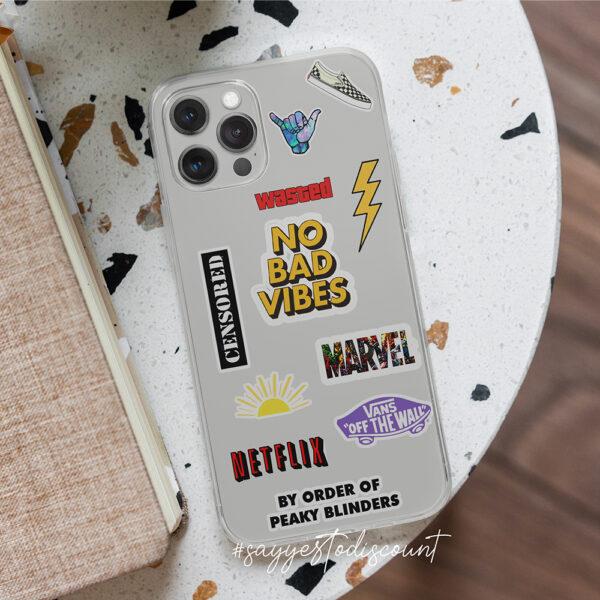 mobile cover sticker printed